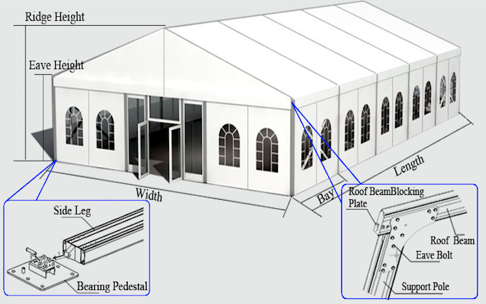 steel structure tent