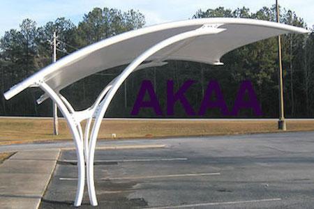 arch design car parking shades in UAE