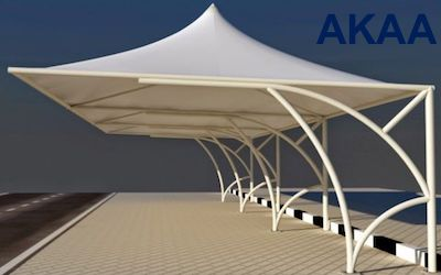 bottom support Car parking shades in UAE