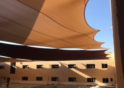 Shade Installation for School Area