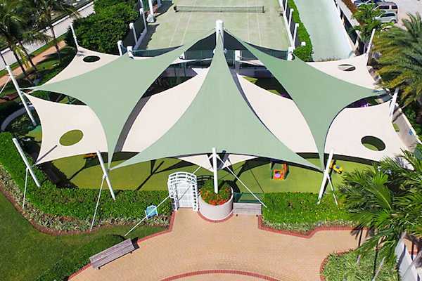 tensile membrane shades structure for Play Ground Area