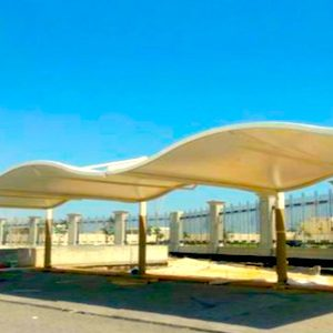 wave design car parking shade in uae