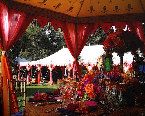 traditional outdoor wedding tent rentals