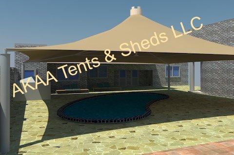 swimming pool shades i UAE ... & Swimming Pool Shades | Pool Shades in UAE - AKAA Tents and Sheds LLC