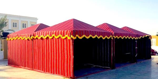 Traditional Arabic wedding tent rentals
