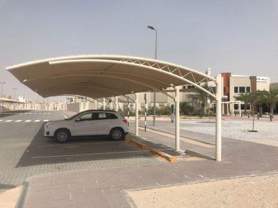 PARKING SHADES INSTALLATION FOR AL SALAM SCHOOL ABU-DHABI