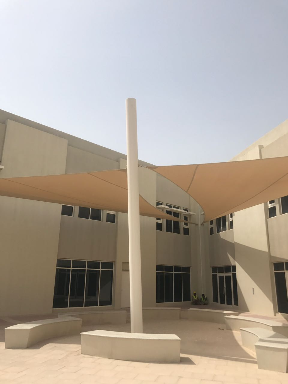 sail shades installation in Sharjah