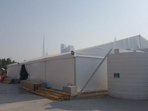 Tent Installation in Dubai for McLaren Construction Group
