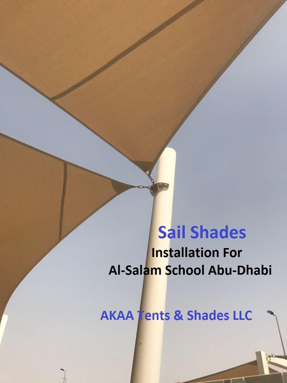 sail shades installation in Al Ain