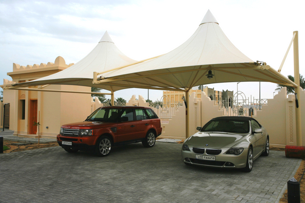 PTFE fabric car parking shades in UAE
