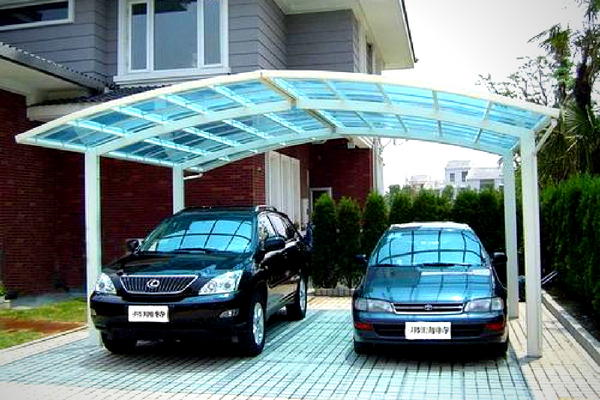 FRP car parking shades in UAE