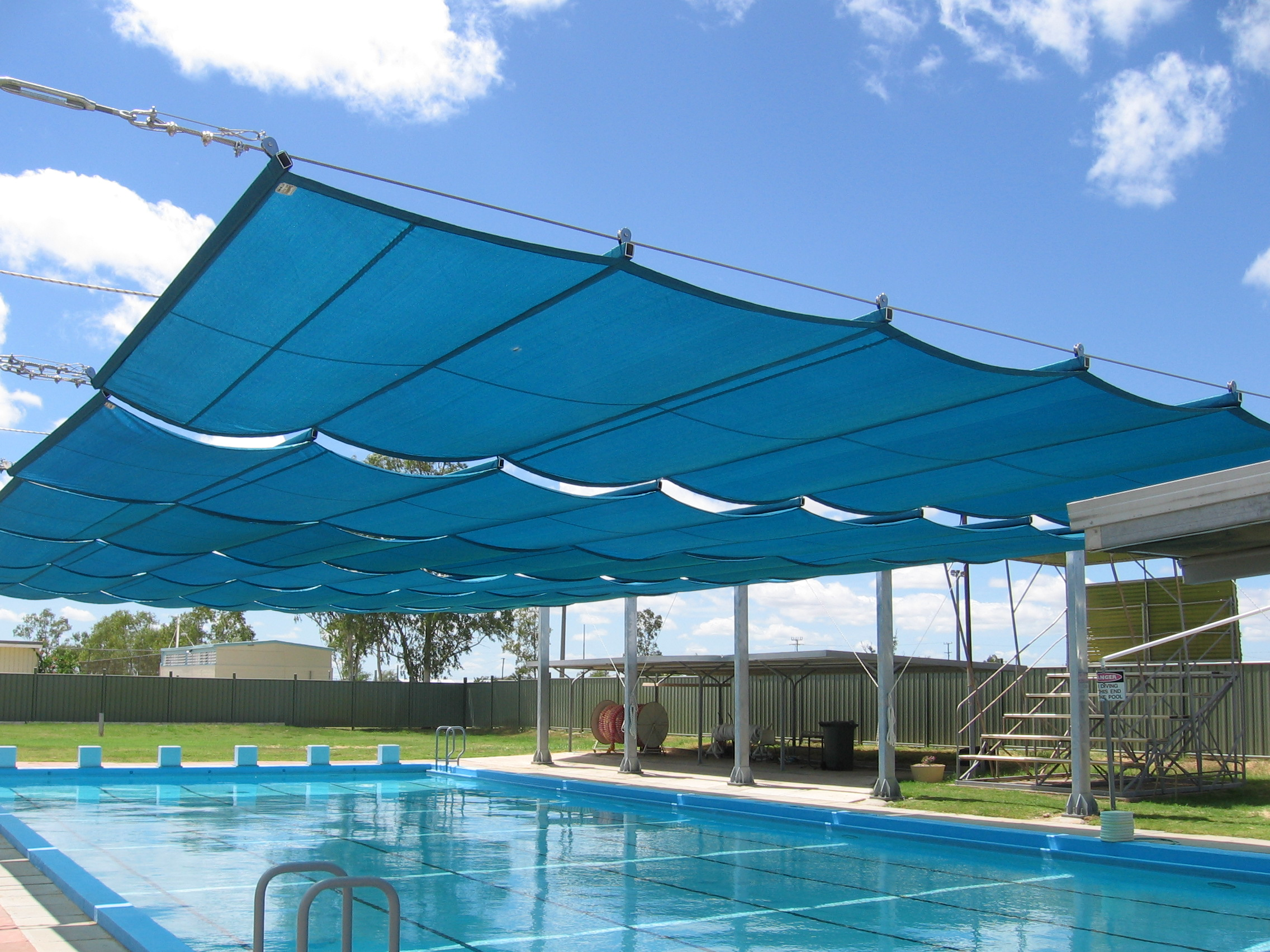 Swimming Pool Shades - AKAA Tents and Shades LLC