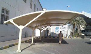 arch design car park shade in UAE