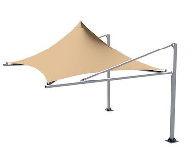 CONICAL CAR PARKING SHADES in UAE
