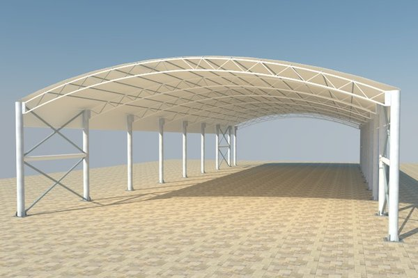 Truss tensile structure shades in Dubai