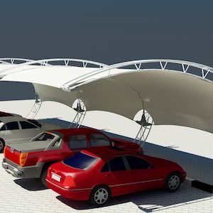 arch design car parking shades in UAE