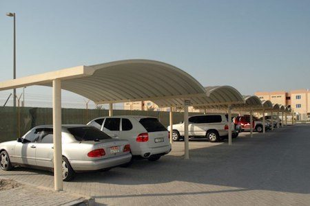 k span car parking shades in UAE