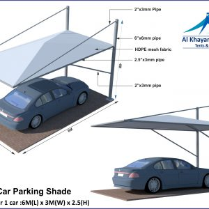 Pyramid Arch Design Car Parking Shade in UAE Dubai