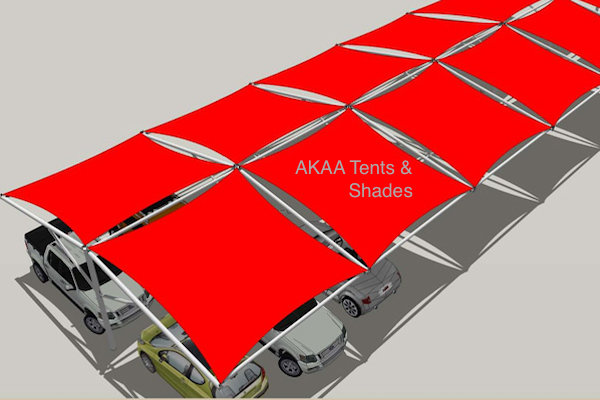 tensile membrane Car Parking Shades in UAE
