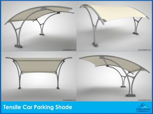 tensile car parking shade