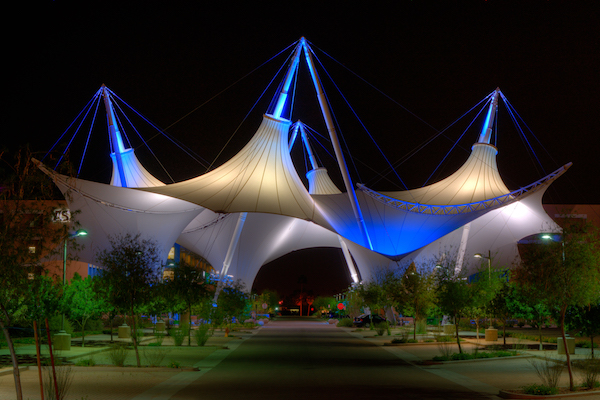 Tensile membrane shade Structure