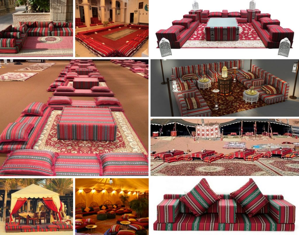 Traditional Arabic seating for rent