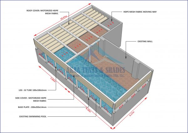 swimming pool shades manufacturers in UAE Dubai