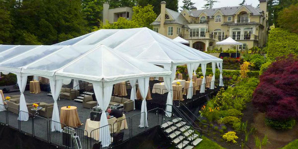 modern outdoor wedding tent rentals