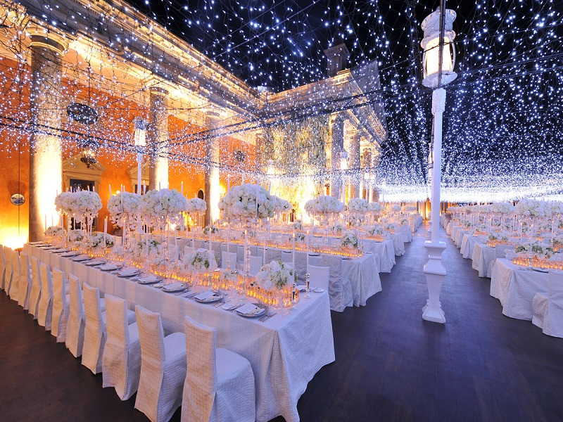 outdoor wedding lighting rentals in uae