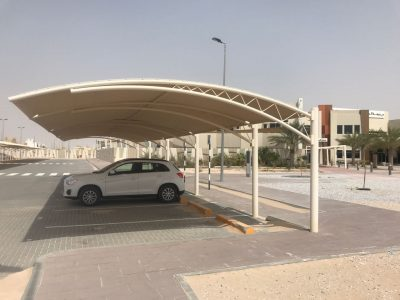 PARKING SHADES INSTALLATION FOR AL SALAM SCHOOL ABU-DHABI