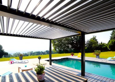 louvered pergola Shade