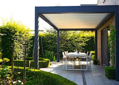 louvered pergola shades