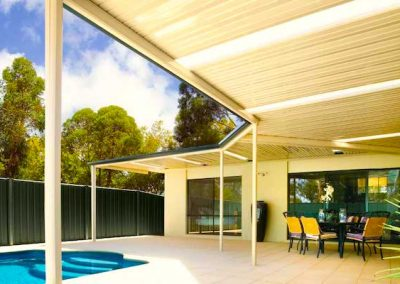 Pool area pergola shade