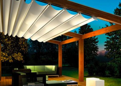 retractable pergola shades