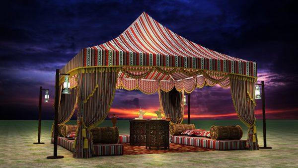 Majlis tents in UAE