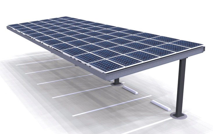 Solar Panel car parking shades in UAE Dubai