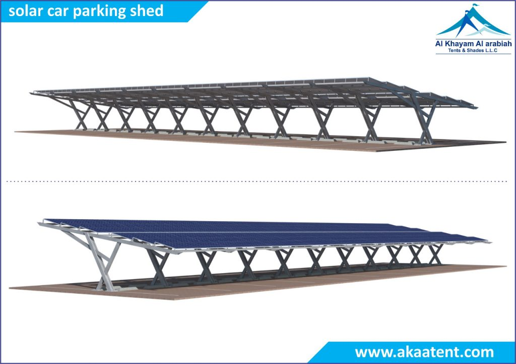 Solar car parking shades in UAE Dubai