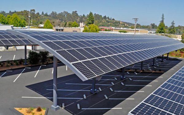 solar car parking shades manufacturers in UAE Dubai