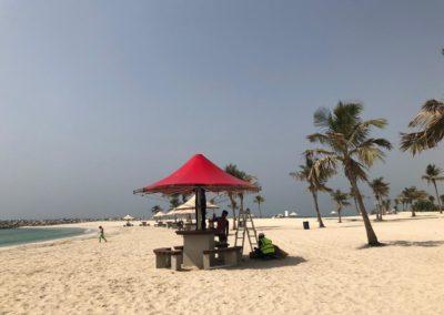 Umbrella Shades at Mamzar Beach Dubai