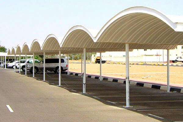 GRP car parking shades