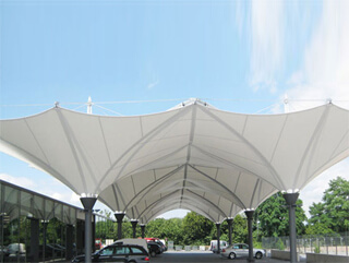 Cone Design Car parking shades in Sharjah