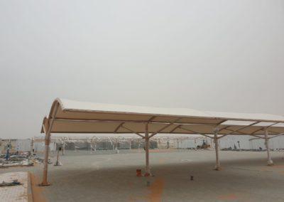 PTFE Car Parking Shade For Al Marfa Police Station – Abu Dhabi