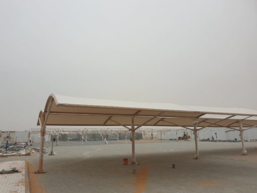 PTFE Car Parking Shade For Al Marfa Police Station – Abu Dhabi