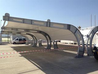 car parking shade aluminium